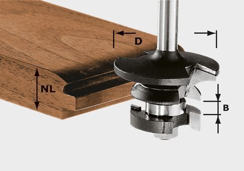 Festool Fresa per controprofili scanalatura HW S8 D43/21 A/KL - 491130