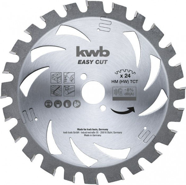 KWB EASY CUT, dun zagend cirkelzaagblad, met hardmetaal versterkt - 583338