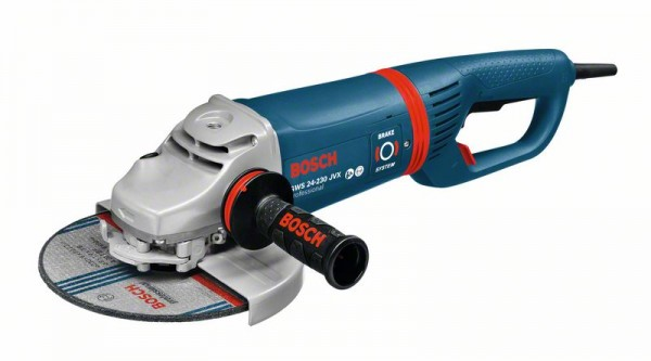 Bosch Professional GWS 24-230 JVX Winkelschleifer + SDS Schnellspannmutter