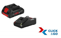 Bosch Professional Starter-Set, 1 Akku ProCORE18V 4.0 Ah, Schnellladegerät GAL 18V-40 Professional - 1600A01U7U