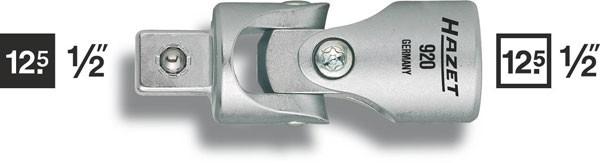 Hazet Universalgelenk - Vierkant hohl 12,5 mm (1/2 Zoll) - Vierkant massiv 12,5 mm (1/2 Zoll) - Gesamtlänge: 70 mm - 920