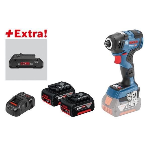 Bosch Professional Accudraaislagmoeraanzetter GDR 18V-200 C, 2x5,0Ah accu, ProCORE18V 4.0Ah, L-BOXX - 0615990K7F