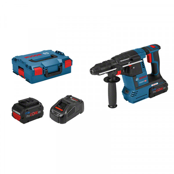 Bosch Professional Perforateur sans-fil SDS-plus GBH 18V-26 F, dans L-BOXX avec 2 batteries ProCORE18V 8,0 Ah Li-Ion, set d'accessoires - 061191000E