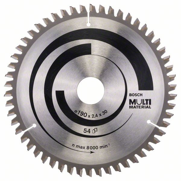Bosch Lame de scie circulaire Multi Material 190 x 30 x 2,4 mm, 54
