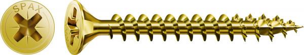 Spax Universalschraube, 4 x 25 mm, 200 Stück, Vollgewinde, Senkkopf, Kreuzschlitz Z2, 4CUT, YELLOX - 1081020400253