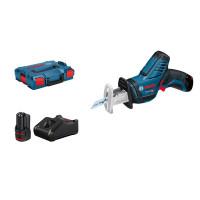 Bosch Professional Scie sabre sans fil GSA 12V-14 Professional, avec 2 batteries 3,0 Ah, L-BOXX - 060164L976