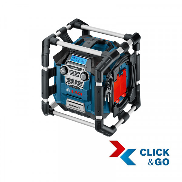 Bosch Professional GML 20 Professional Radio-MP3-USB-Chargeur-prise 12 V DC (sans batterie ni chargeur) - 0601429700