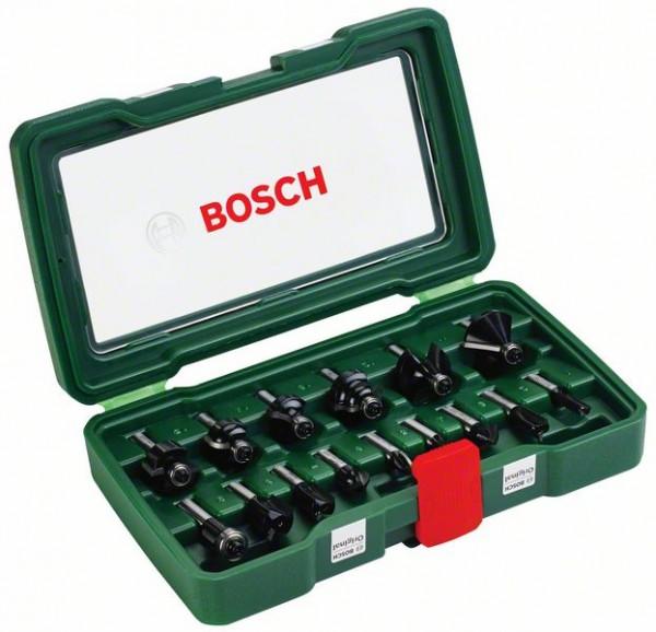 Bosch Cassette de 15 fraises au carbure (queue de Ø 8 mm)
