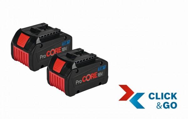 Bosch Akkupack ProCORE 18 Volt, 7,0 Ah, 2 Stück im Karton - 0615990K16