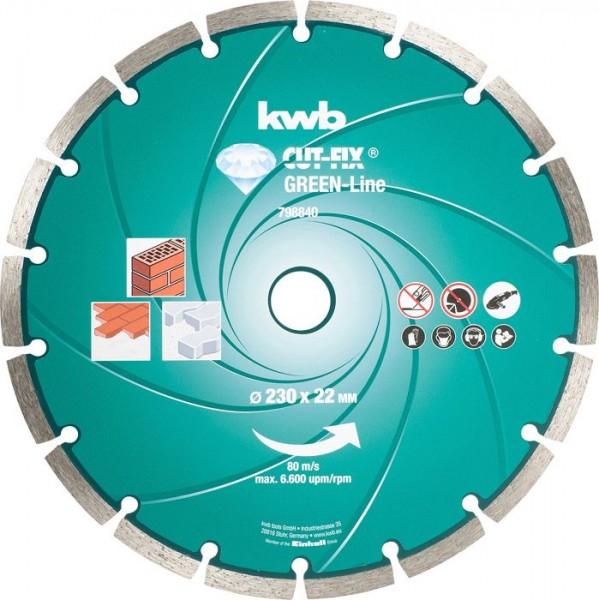 KWB CUT-FIX® Green-Line DIAMANT-doorslijpschijven, ø 230 mm - 798840