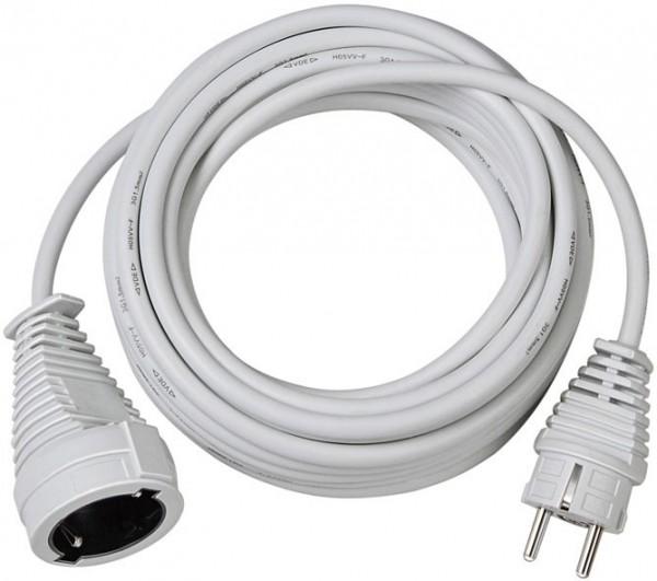 Brennenstuhl Cable de plástico, 10m H05VV-F 3G1,5, blanco - 1168460