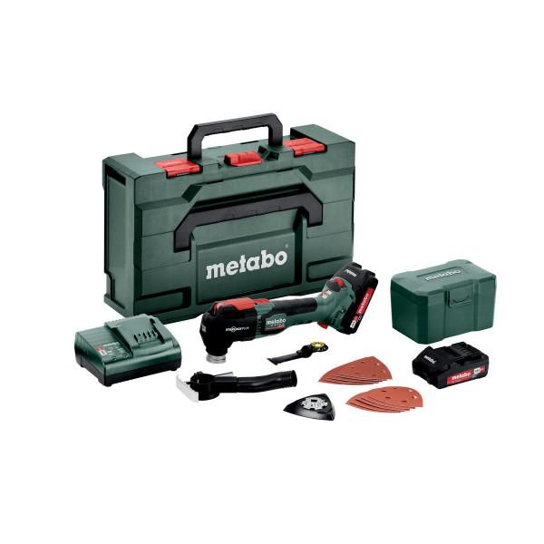 Metabo Akku-Multitool MT 18 LTX BL QSL, metaBOX 145 L, 18V 2x2Ah Li-Ion + SC 30 - 613088500