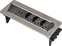 Brennenstuhl Presa multipla da scrivania con USB Indesk Power - 1396200113