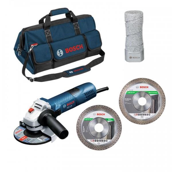 Bosch 5-dlg. Diamant-Tegelzetter-set met GWS 7-125 Professional - 06159975H2