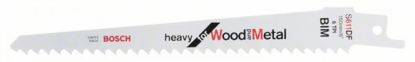 Bosch Lames de scie sabre S 611 DF Heavy for Wood and Metal