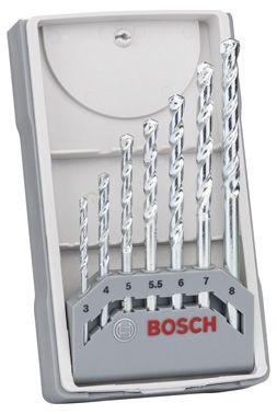 Bosch Forets à matériaux CYL-1, set de 7 pièces 3,4,5,5,5,6,7,8