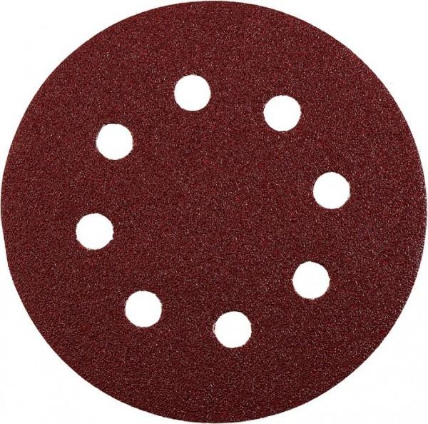 KWB QUICK-STICK schuurschijven, HOUT & METAAL, edelkorund, Ø 125 mm, geperforeerd - 541924