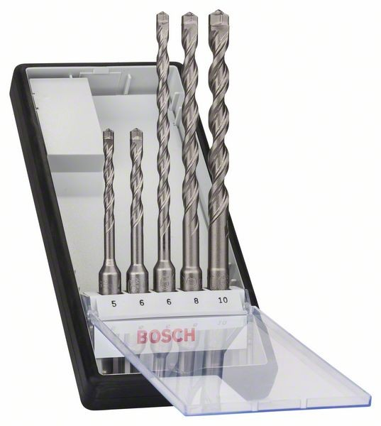 Bosch Set di punte per martelli Robust Line SDS-plus-7 da 5 pz. 5 - 10 mm