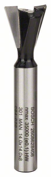Bosch Fraise à queue d'aronde 8 mm, D1 14 mm, L 14 mm, G 55 mm, 15°