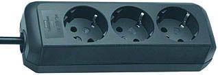 Brennenstuhl Steckdosenleiste Eco-Line 3-fach schwarz 1,5m