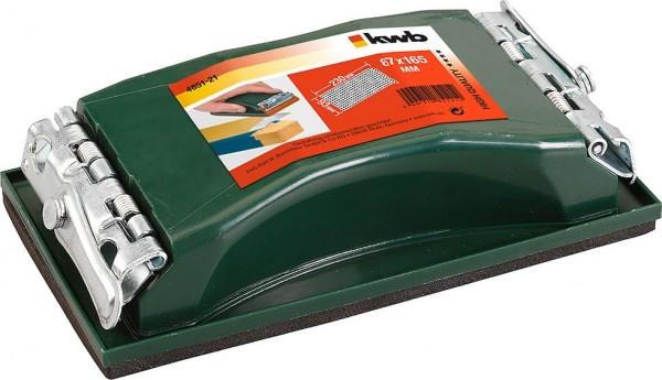 KWB Professioneel handschuurblok, met veerklemmen - 485121