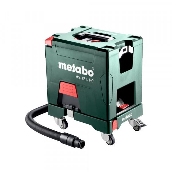 Metabo AS 18 L PC Accu-alleszuiger, 18V, 5.2Ah Li-Ion, Lader ASC 55, doos, met handmatige filterreiniging - 602021000