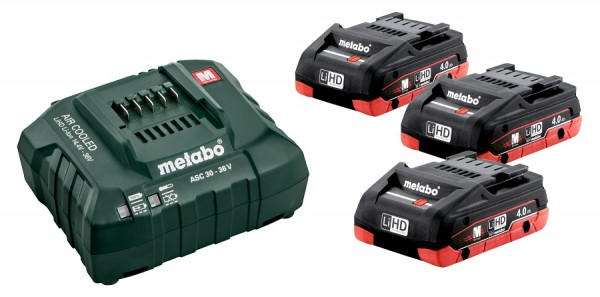 Metabo Set di base 3 x LiHD 4,0 Ah - 685132000