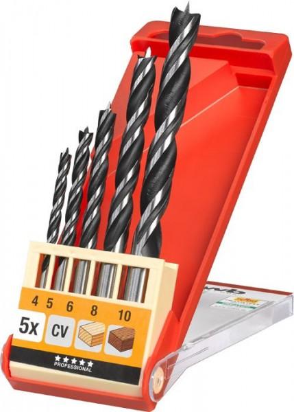 KWB Houtspiraalborenset, CV-staal, dubbele spiraal, 5-, 7- en 8-delig - 514000