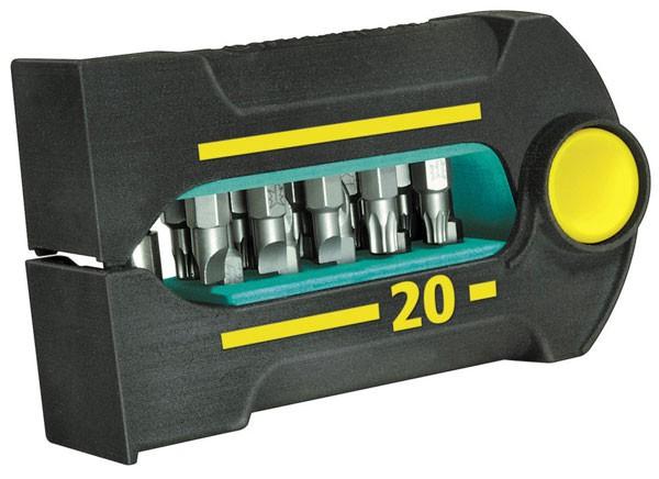 Wolfcraft BitButler 20 Solid, composé de 21 pièces :. 1 porte-embouts magnétique et 20 embouts: PH Nr. 1 + 2 +