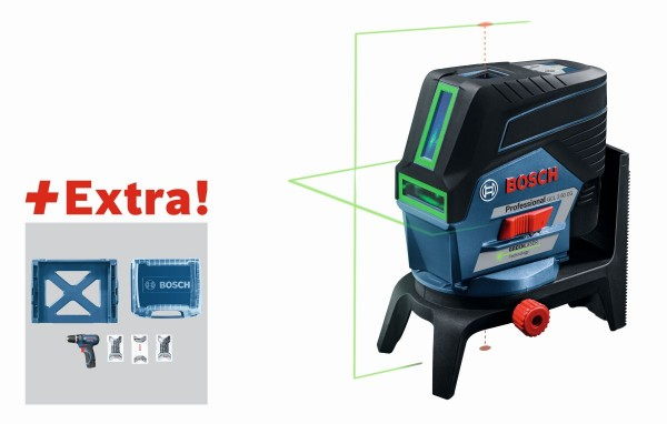 Bosch Combilaser GCL 2-50 CG in L-BOXX + accuschroevendraaier GSR 12V-15 + 39-delige accessoireset in i-BOXX + i-Rack - 06159940L6
