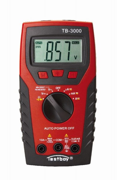 Testboy 3000 - Digital Multimeter + LED Taschenlampe CAT III 400 V 165 x 85 x 32 mm