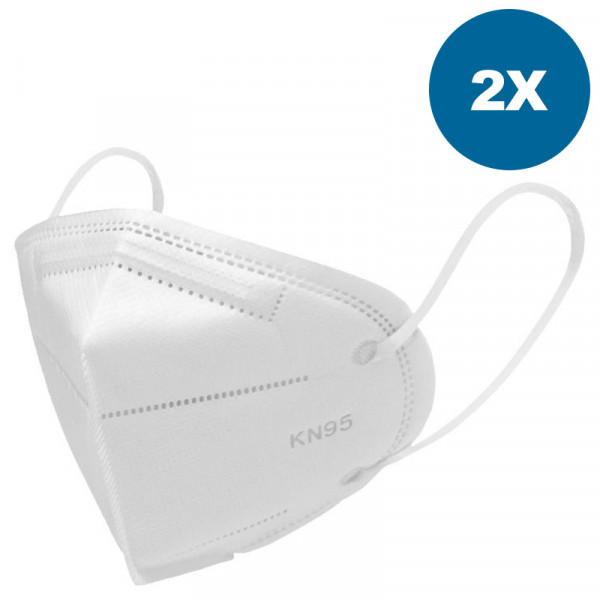 Mascarilla respiratoria KN95 / N95, 2 piezas