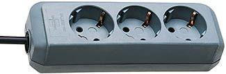 Brennenstuhl Presa multipla Eco-Line 3 prese grigio argento 1,5m H05VV-F 3G1,5