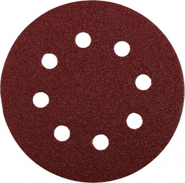 KWB QUICK-STICK schuurschijven, HOUT & METAAL, edelkorund, Ø 125 mm, geperforeerd - 491912