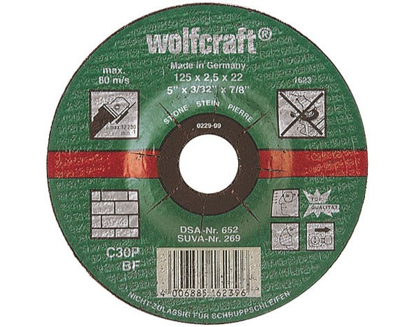 Wolfcraft dischi per troncare pietra, a centro depresso