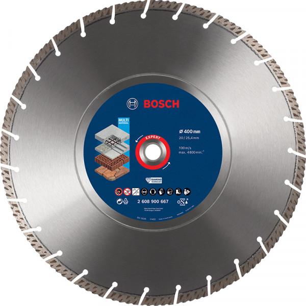 Bosch Professional EXPERT MultiMaterial Diamanttrennscheiben, 400 x 20/25,40 x 3,3 x 12mm. Für Tischsägen - 2608900667