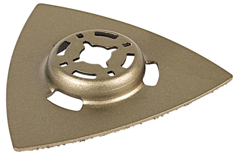 Wolfcraft Delta Schleifplatte HM für Bosch PMF Multifunktions Werkzeug