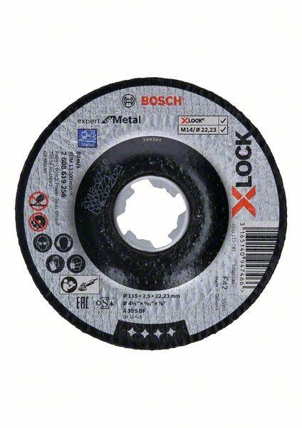 Bosch Disque à tronçonner X-LOCK Expert for Metal 115x2,5x22,23mm à découpe déportée - 2608619256