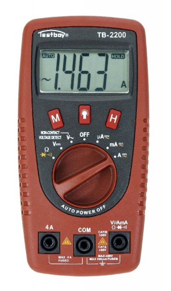 Testboy 2200 - Digitales Multimeter + LED Lampe 140 x 70 x 35 mm