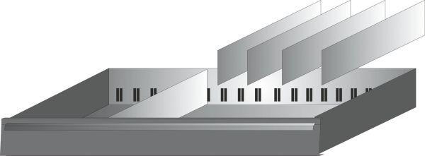 Hazet Schubladen-Unterteilung - Anzahl Werkzeuge: 5 - 173-32/5