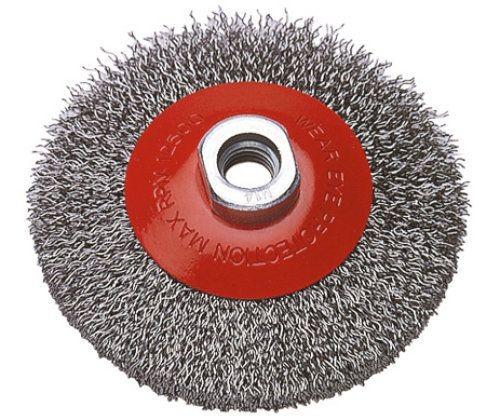 Wolfcraft 1 cepillo metálico cónico, 100 mm, M 14, version ondulado - 2705000