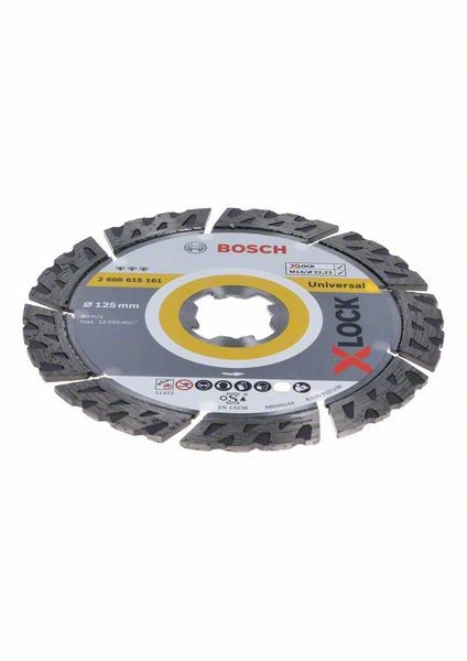 Bosch Disque de tronçonnage diamant X-LOCK Best for Universal 125x22,23x2,2x12 mm - 2608615161