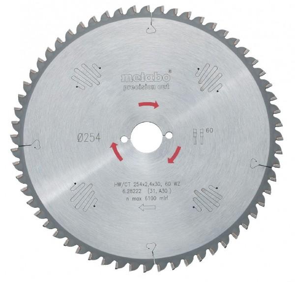 Metabo Lame de scie circulaire en carbure HW/CT 315x30, 48 WZ 15°
