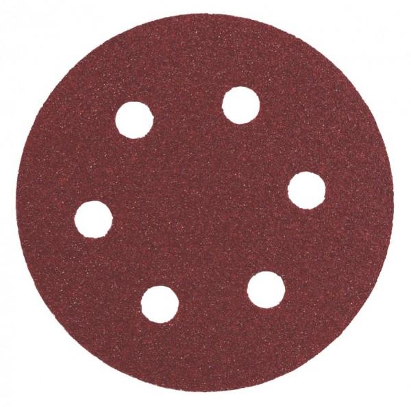Metabo 10 Feuilles abrasives auto-agrippantes, Ø 80 mm, 6 trous, P240, « professional » - 62404700