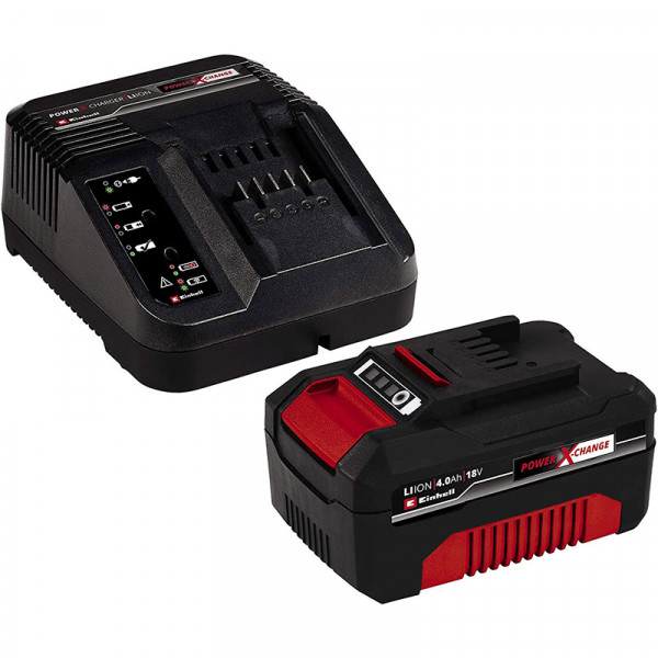 Einhell Power-X-Change Starter Kit Batteria 18 V/4,0 Ah e caricabatteria - 4512042