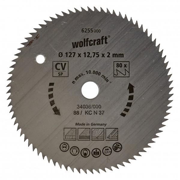 Wolfcraft lama per sega circolare CV, 80 denti