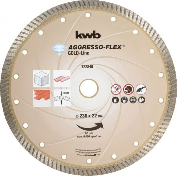 KWB AGGRESSO-FLEX® Gold-Line DIAMANT-doorslijpschijven, ø 230 mm - 722840