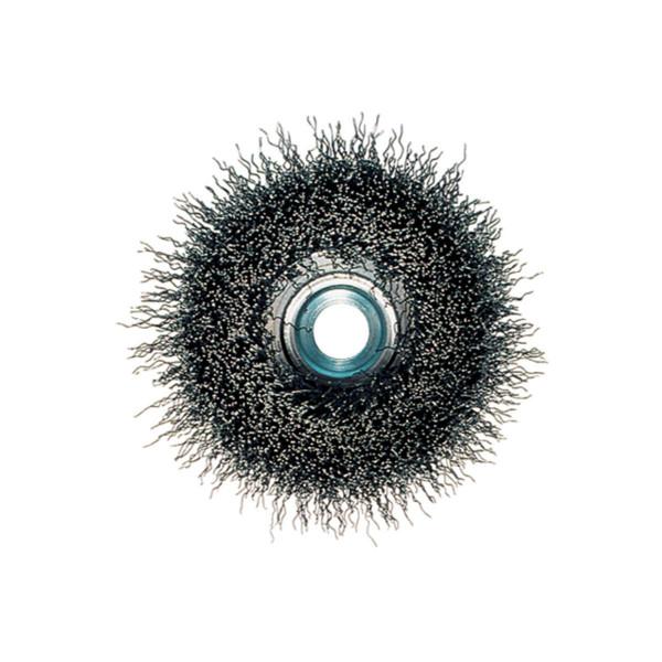 Metabo Cepillo hueco 75x0,3 mm/ M 14, alambre de acero, ondulado, grosor del alambre 0,30 mm - 623715000