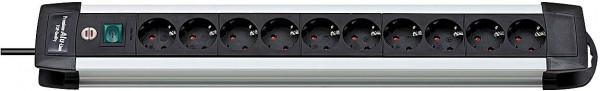 Brennenstuhl Steckdosenleiste Premium-Alu-Line 10-fach, schwarz