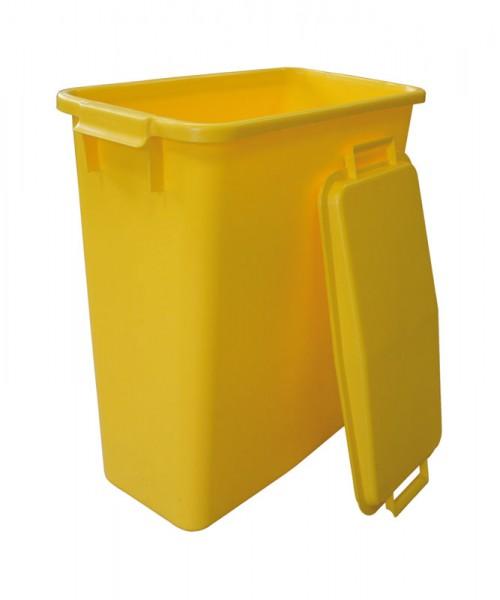 GRAF Afval-/recyclingcontainer 60l geel kunststof L555xB285xH590mm